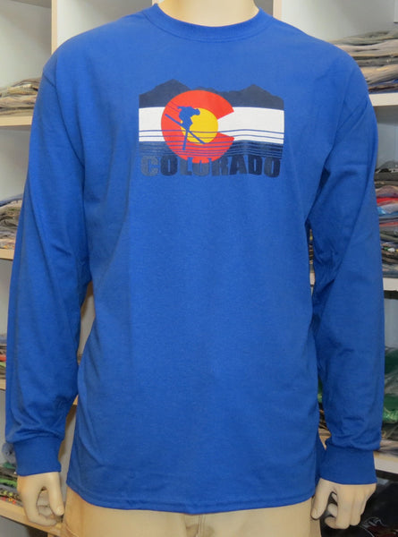 SKI COLORADO FLAG LONG SLEEVE MADE IN THE USA