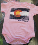 CO DISTRESSED FLAG-ONSIE PINK