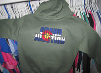 Grand Junction-Embroidered CO Flag Sweatshirt-Military Green