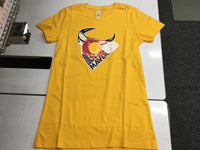 CO Flag-Mavs Ladies Tee-Gold