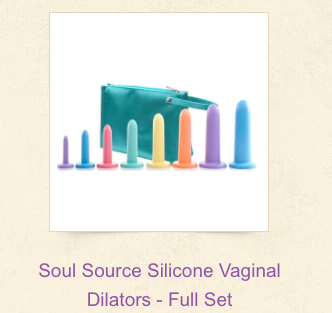 Soul Source Silicone Vaginal Dilators Full Set