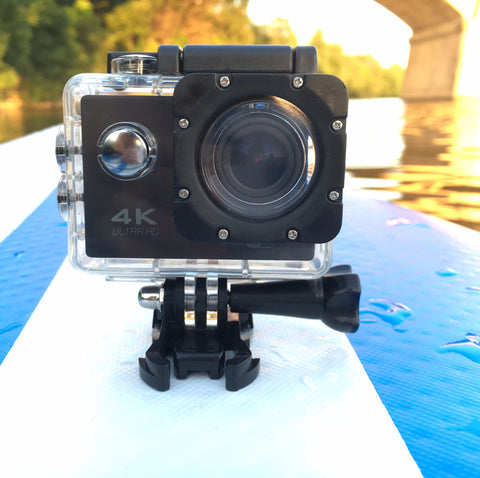 Image of 4k Sport Action Cam on a Standup Paddle Board
