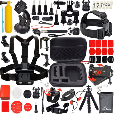 Accessory Kit For Sport Action Cameras - 31 Piece Kit With Storage Case - Amurrayca  - 1