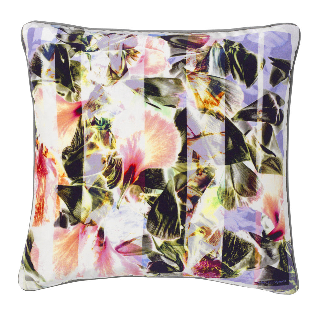 Clara Silk Cushion - Reflect and Repeat  - 1