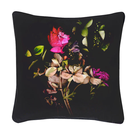 Midnight Rosa Silk Cushion - Reflect and Repeat  - 1