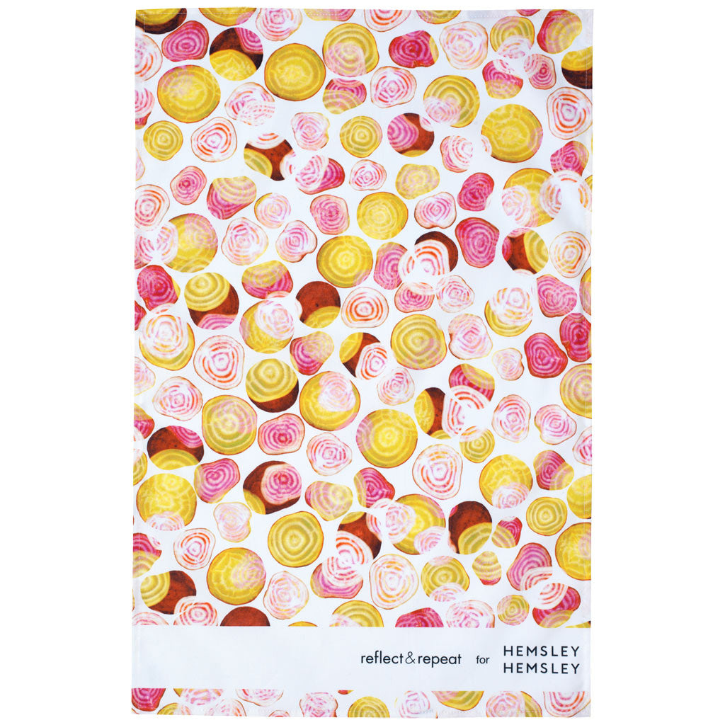 Reflect & Repeat for Hemsley + Hemsley Beetroot Tea Towel - Reflect and Repeat  - 1