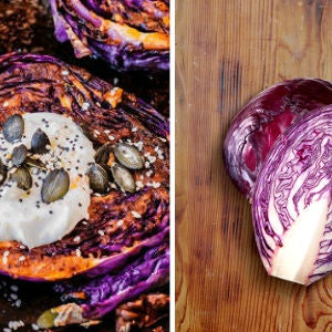 Chakalaka Roasted Red Cabbage Steaks