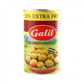 GALIL Green Olive Manzello (400 g) from Kosher - AubergineFoods.com