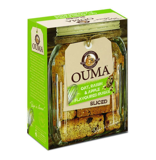 OUMA Oat, Raisin & Apple Flavor Rusks Sliced (500 g) from 🇿🇦 South Africa - AubergineFoods.com