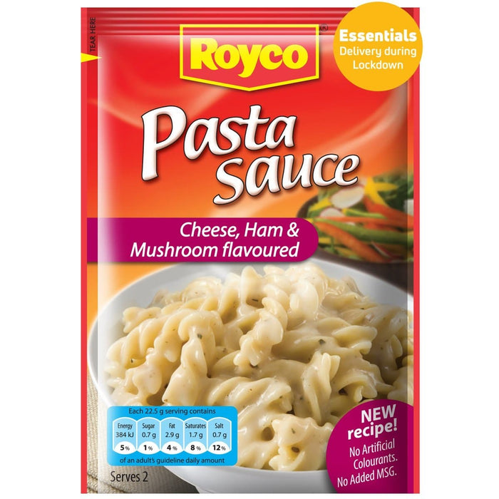 ROYCO Pasta Sauce CHeese Ham & Mushroom (45 g) from South Africa - AubergineFoods.com