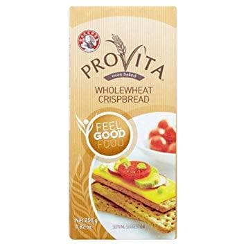 Bakers Provita Whole Wheat Crispbread (250 g) from South Africa - AubergineFoods.com
