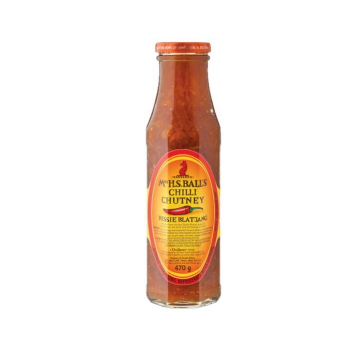 Mrs. Balls Chutney: Chilli (470 g) from South Africa - AubergineFoods.com