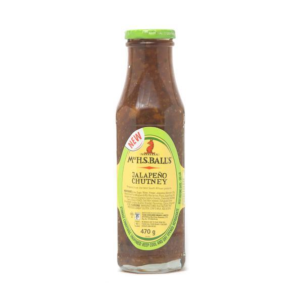 Mrs. Balls Chutney: Jalepeno (470 g) from South Africa - AubergineFoods.com