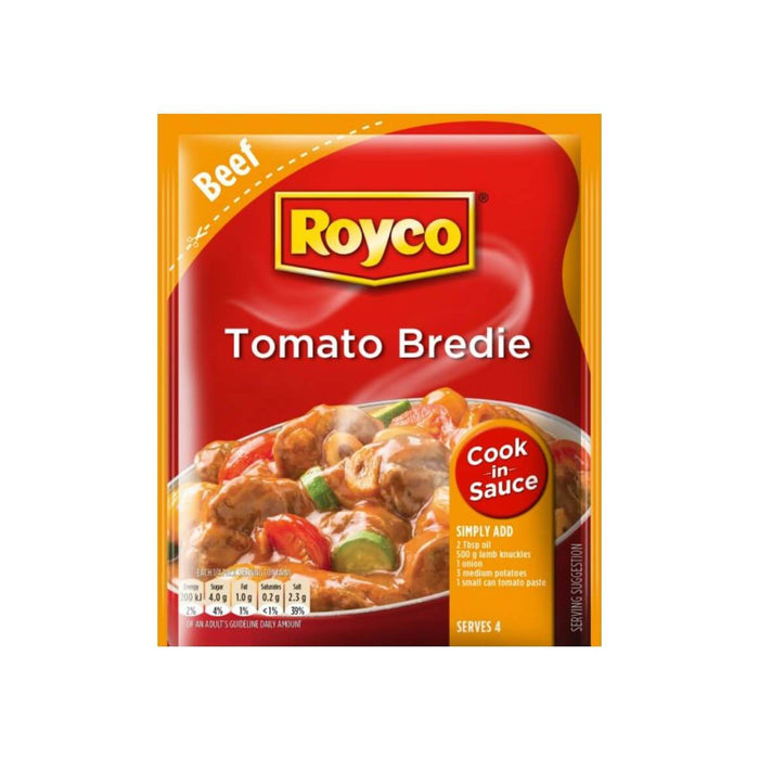 ROYCO Cook in Sauce Tomato Bredie (55 g) from South Africa - AubergineFoods.com