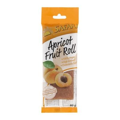 SAFARI Fruit Roll-Apricot (80 g) from South Africa - AubergineFoods.com