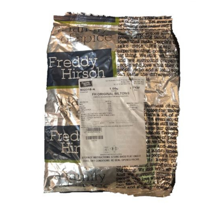 Freddy Hirsch Original Biltong (1 Kg) from South Africa - AubergineFoods.com