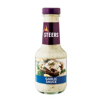 Steers Garlic Sauce (375 ml) from Aubergine Specialty Foods - AubergineFoods.com