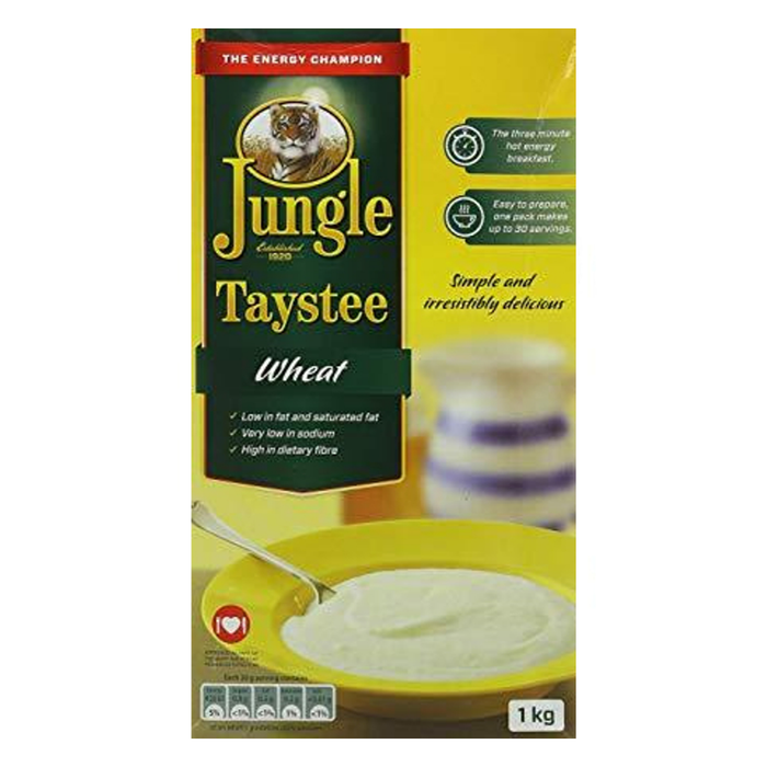 Jungle Taystee Wheat Cereal (1kg) from South Africa - AubergineFoods.com