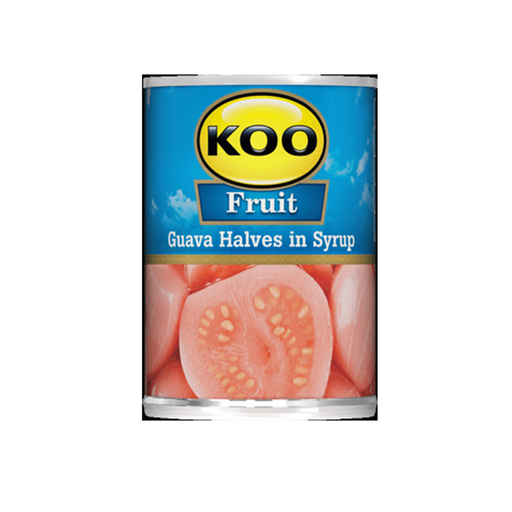 KOO Guava Halves in Syrup (410 g) from South Africa - AubergineFoods.com
