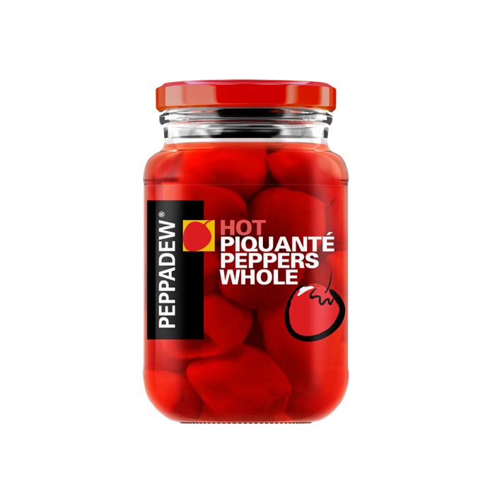 Peppadew Hot Piquante Peppers Whole (400 g) from South Africa - AubergineFoods.com