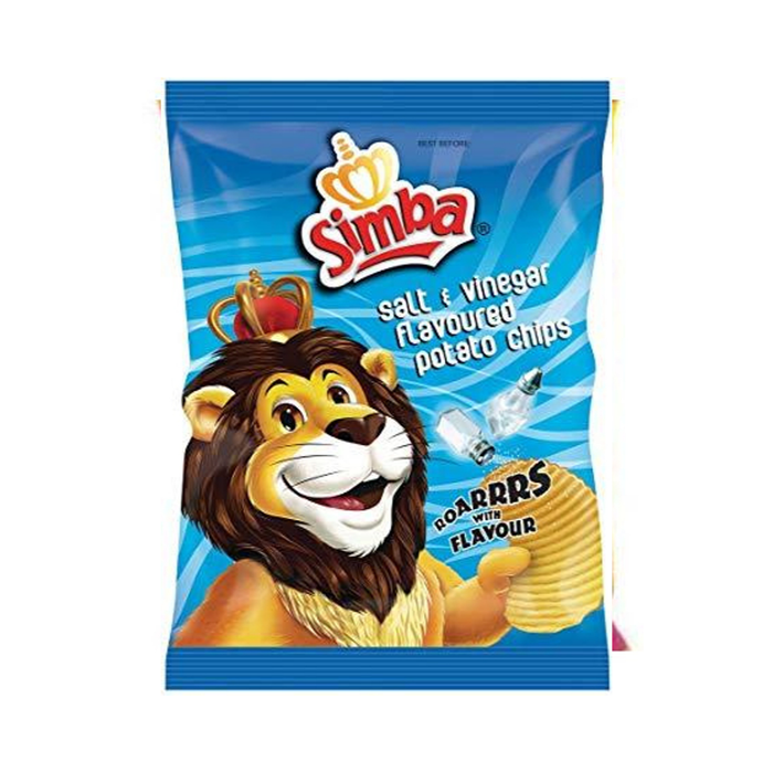SIMBA Chips: Salt & Vinegar (125 g) from South Africa - AubergineFoods.com