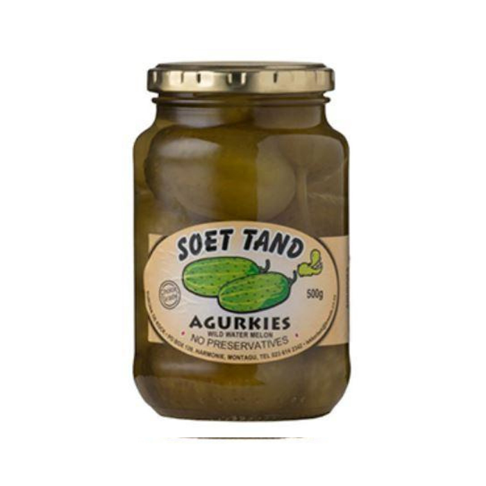 Soet Tand-Agurkies (500 g) from South Africa - AubergineFoods.com