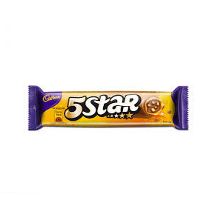 Cadbury 5 Star Caramel Crunch Biscuit (49 g) from South Africa - AubergineFoods.com