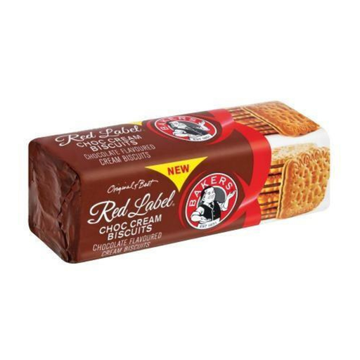Bakers Red Label Choc Cream Biscuits (200 g) from South Africa - AubergineFoods.com