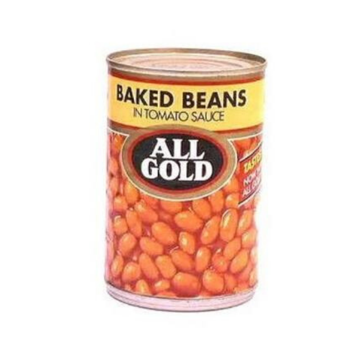 All Gold Baked Beans in Tomato Sauce (410 g) from South Africa - AubergineFoods.com