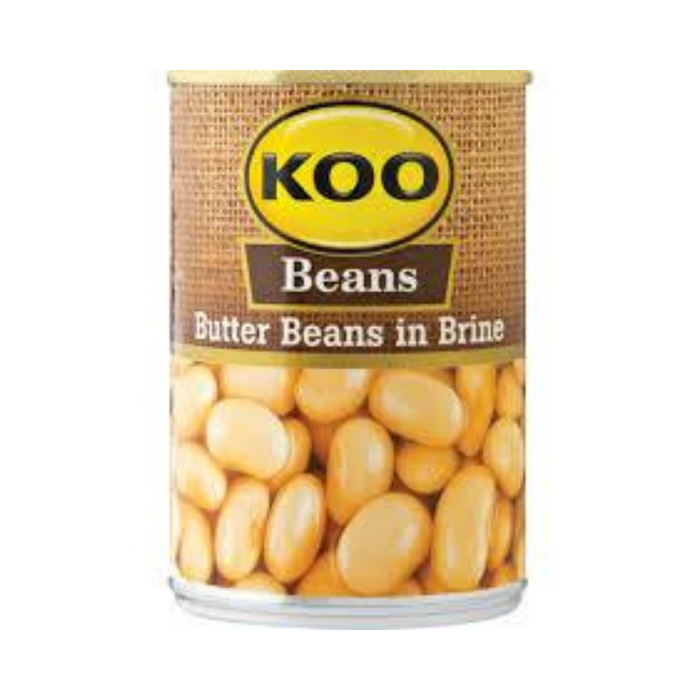 KOO Butter Beans in Brine (410 g) | Food, South African | USA's #1 Source for South African Foods - AubergineFoods.com