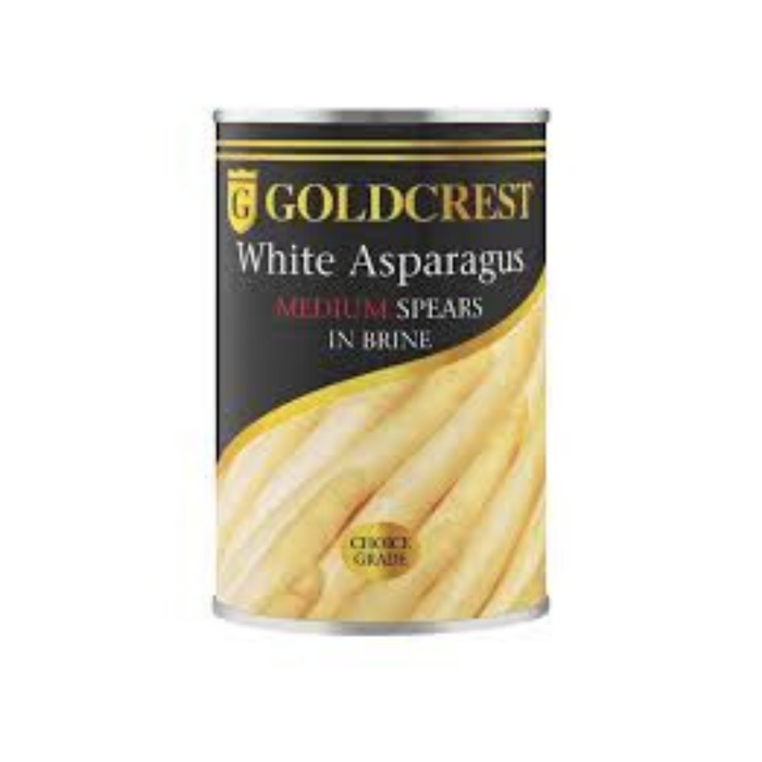 Goldcrest White Asparagus in Brine (410 g) from South Africa - AubergineFoods.com