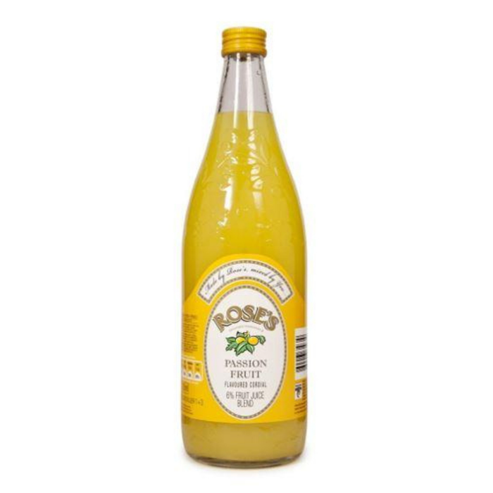 Rose's Passionfruit Cordial (750 ml) from South Africa - AubergineFoods.com