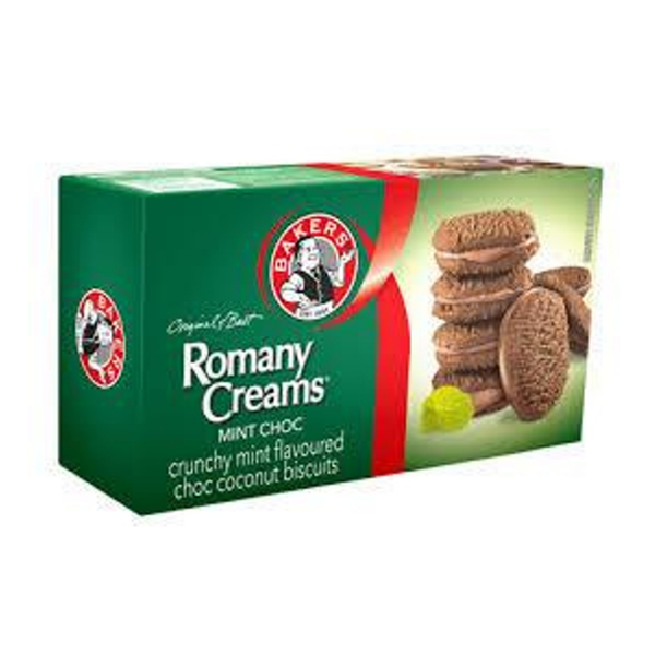 Bakers Romany Creams Chocolate Mint (200g)