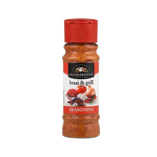 Ina Paarman's Braai and Grill seasoning (200 ml) from South Africa - AubergineFoods.com