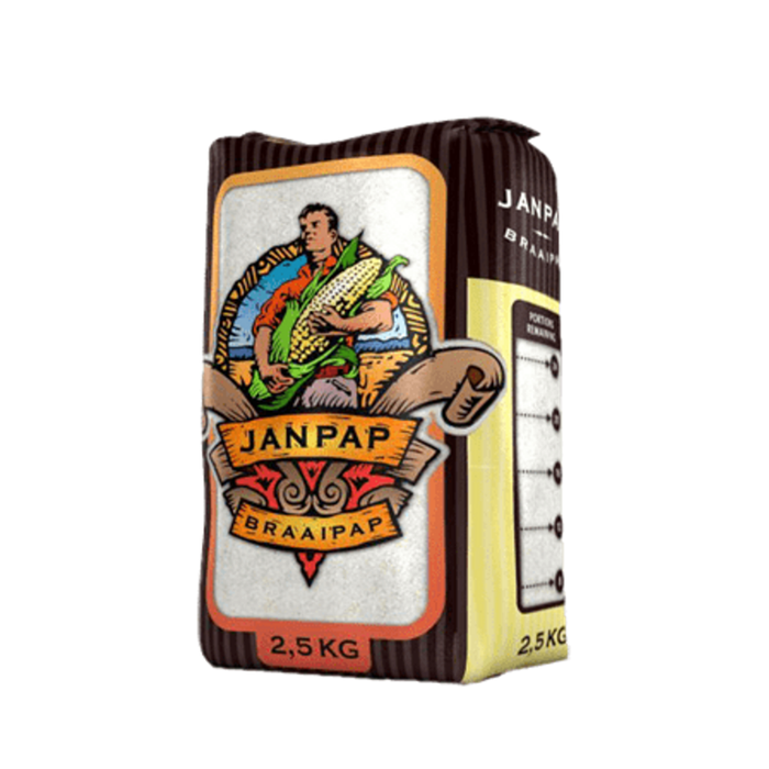 Janpap Braaipap Super Maize Meal (1Kg) from South Africa - AubergineFoods.com