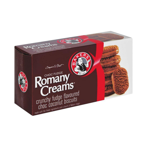 Bakers Romany Creams: Chocolate Fudge (200 g) from South Africa - AubergineFoods.com
