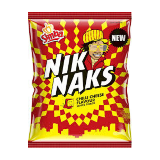 Nik Naks Chilli Cheese (135 g) from South Africa - AubergineFoods.com