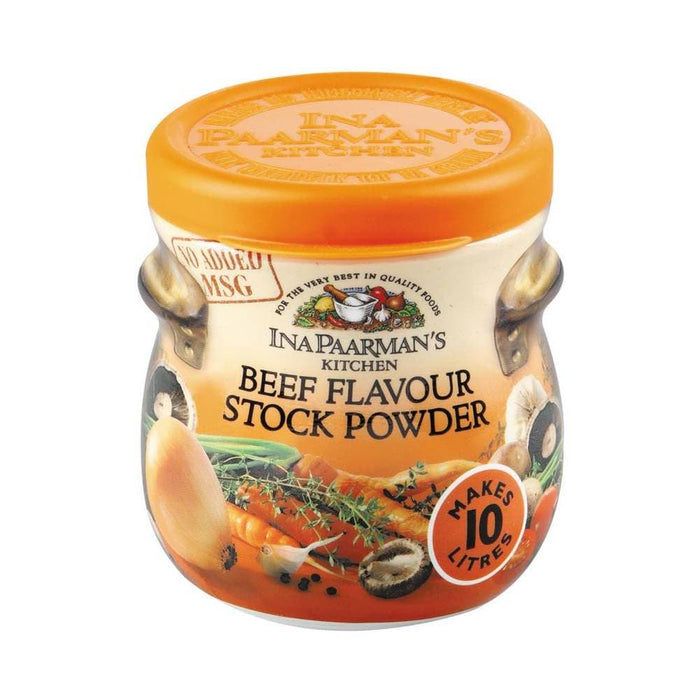 Ina Paarman's Kitchen Stock Powder-Beef Flavor (150 g) from South Africa - AubergineFoods.com
