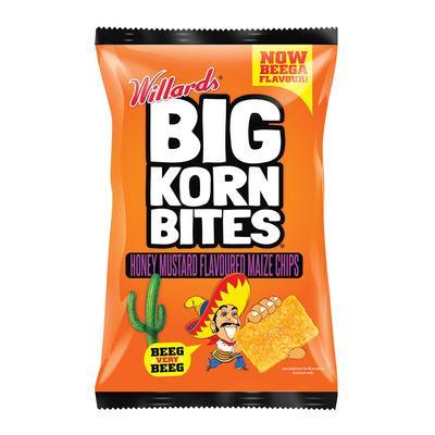 Willards Big Korn Bites: Honey Mustard (120 g) from Aubergine Specialty Foods - AubergineFoods.com