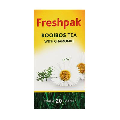 Freshpak Rooibos with Chamomile (20 bags) from South Africa - AubergineFoods.com