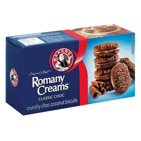 Bakers Romany Creams Crunchy Choc Coconut Biscuits (200g)