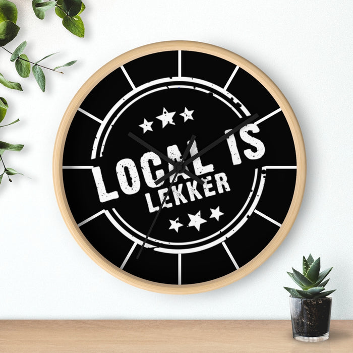 Local is Lekker Wall clock