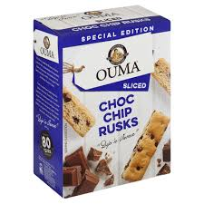 OUMA Chocolate Chip Rusks Sliced (450g)