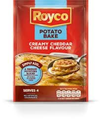 ROYCO Cheddar Cheese Onion Potato Bake (43 g) from South Africa - AubergineFoods.com