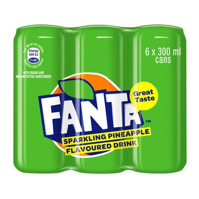 Fanta-Sparkling Pineapple (6x330ml) from South Africa - AubergineFoods.com