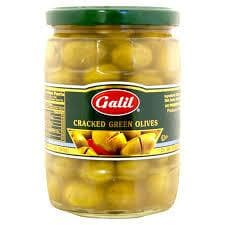 GALIL Cracked Green Olives ( 330 g) from Kosher - AubergineFoods.com