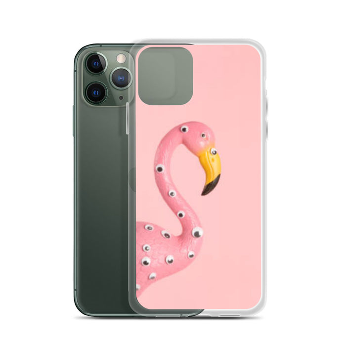 All Seeing Flamingo iPhone Case