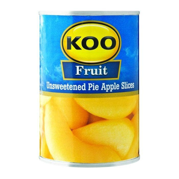 KOO Sliced Pie Apples-Unsweetened (385 g) | Food, South African | USA's #1 Source for South African Foods - AubergineFoods.com