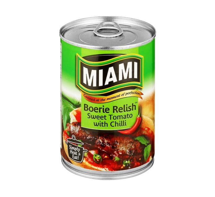 Miami Boerie Relish (410 g) from South Africa - AubergineFoods.com