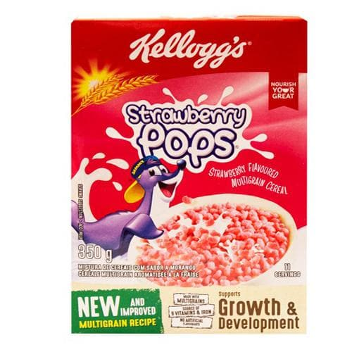 Kellogg's Strawberry Pops (350g) from South Africa - AubergineFoods.com